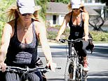 EXCLUSIVE TO INF.\nSeptember 23, 2015: Goldie Hawn seen biking around Brentwood without a helmet.\nMandatory Credit: Fresh/INFphoto.com Ref.: infusla-284