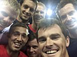 The Murray brothers, Dan Evans, Kyle Edmund, James Ward, Dom Inglot and Leon Smith take a selfie