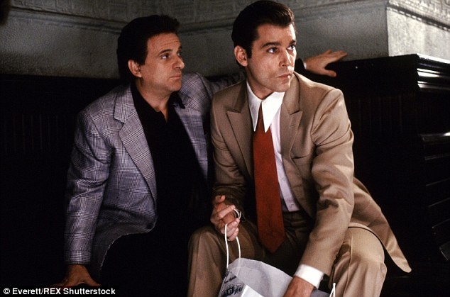 The mob film earned six Academy Award nominations including Best Picture and won Joe Pesci, seen here with Ray Liotta in a scene from the movie, a Best Supporting Actor Oscar