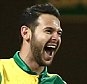 Matt Jarvis of Norwich celebrates scoring the opening goal with team-mate Martin Olsson of Norwich   during the Capital One Cup  3rd round   match between Norwich and West Bromwich Albion    played at Carrow Road   stadium , Norwich