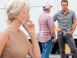 UK CLIENTS MUST CREDIT: AKM-GSI ONLY\nEXCLUSIVE: **SHOT ON 9/22/15** Atlanta, GA - Actor Chris Pratt comes in peace to the set of 'Passengers' in Atlanta, Georgia. The hunky actor smiled for the camera as he took direction and chatted with crew members before heading to the trailers to get prepped for a scene oh his first day on set.\n\nPictured: Chris Pratt\nRef: SPL1135912  240915   EXCLUSIVE\nPicture by: AKM-GSI \n\n