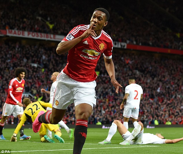 Anthony Martial capped an impressive debut with a fantastic late solo goal against Liverpool