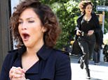 142842, Jennifer Lopez yawns in-between running takes on the set of 'Shades of Blue' filming in Downtown Brooklyn. New York, New York - Wednesday September 23, 2015. Photograph: LGjr-RG, © PacificCoastNews. Los Angeles Office: +1 310.822.0419 sales@pacificcoastnews.com FEE MUST BE AGREED PRIOR TO USAGE