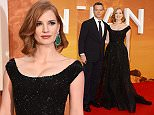 Mandatory Credit: Photo by Jonathan Hordle/REX Shutterstock (5168408l)\n Matt Damon\n Jessica Chastain\n 'The Martian' film premiere, London, Britain - 24 Sep 2015\n \n