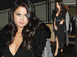 Selena Gomez seen here leaving The Dorchester Hotel in London after eating dinner following her pre recording TV show: Alan Carr Chatty Man at the ITV studios.\nSelena was wearing a black floor length dress with a silver coat draped over her shoulders and black high heels, she then returned to her London hotel stopping to sign autographs and taking selfies with her fans.\n\nPictured: Selena Gomez\nRef: SPL1134654  230915  \nPicture by: Splash News\n\nSplash News and Pictures\nLos Angeles: 310-821-2666\nNew York: 212-619-2666\nLondon: 870-934-2666\nphotodesk@splashnews.com\n
