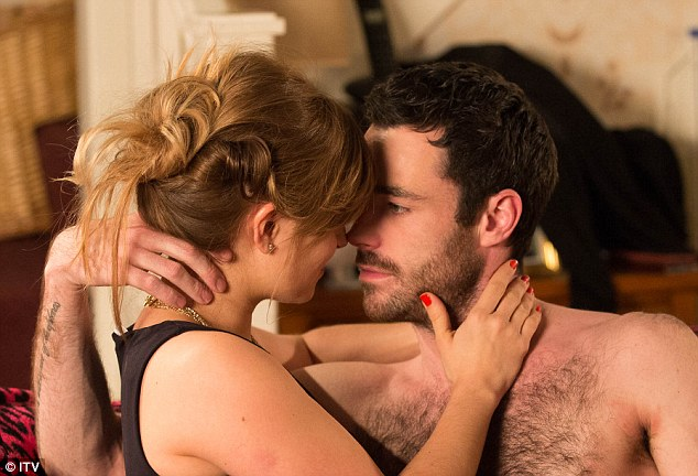 Steamy: The pair have struck up an unlikely romance since Sarah-Lou returned to Weatherfield