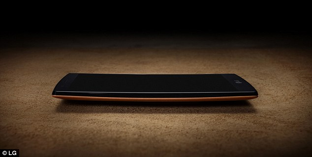 The arc shape of the case (pictured) is designed to be a 20 per cent more durable than a flat phone if dropped, as well as more comfortable to hold