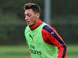 ST ALBANS, ENGLAND - SEPTEMBER 22: Mesut Ozil of Arsenal during a training session at London Colney on September 22, 2015 in St Albans, England. (Photo by Stuart MacFarlane/Arsenal FC via Getty Images)