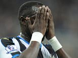 "Newcastle's Moussa Sissoko reacts after hitting the post during the Capital One Cup, third round match at St James' Park, Newcastle. PRESS ASSOCIATION Photo. Picture date: Wednesday September 23, 2015. See PA story SOCCER Newcastle. Photo credit should read: Owen Humphreys/PA Wire. RESTRICTIONS: EDITORIAL USE ONLY No use with unauthorised audio, video, data, fixture lists, club/league logos or ""live"" services. Online in-match use limited to 45 images, no video emulation. No use in betting, games or single club/league/player publications."