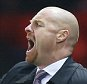 Premier League football - Manchester United v Burnley (3-1) - Old Trafford.  Pic shows:-  Burnley manager Sean Dyche. PIcture by Ian Hodgson/Daily Mail