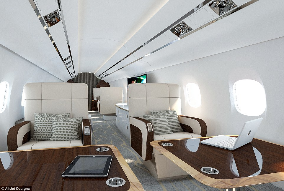 In private aircraft, a lot of attention is given to the design of the aircraft seats, with style, trim and materials carefully considered