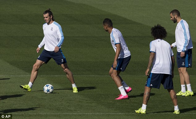 Bale returned to training on Monday ahead of Real Madrid's Champions League opener on Tuesday