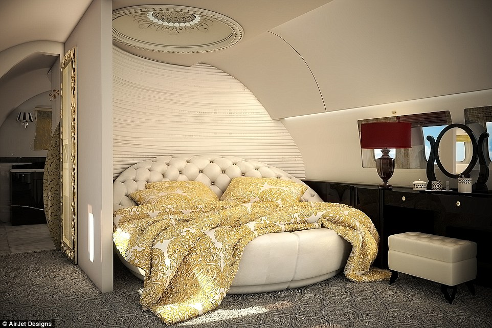 Luxurious fabrics are an easy way to inject some glamour into a private jet and create a more homely feel