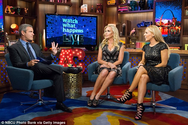 'Like two cats in a bag':While the cameras missed the action, host and Housewives creator Andy Cohen certainly did not and as soon as tapes were rolling once more, tried to get to the bottom of what occurred