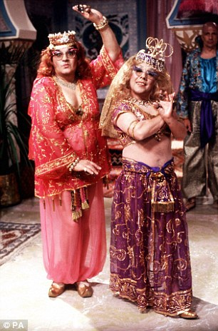Dressing up as women:The songs would often be the penultimate item in The Two Ronnies and usually involved them dressing up in silly costumes