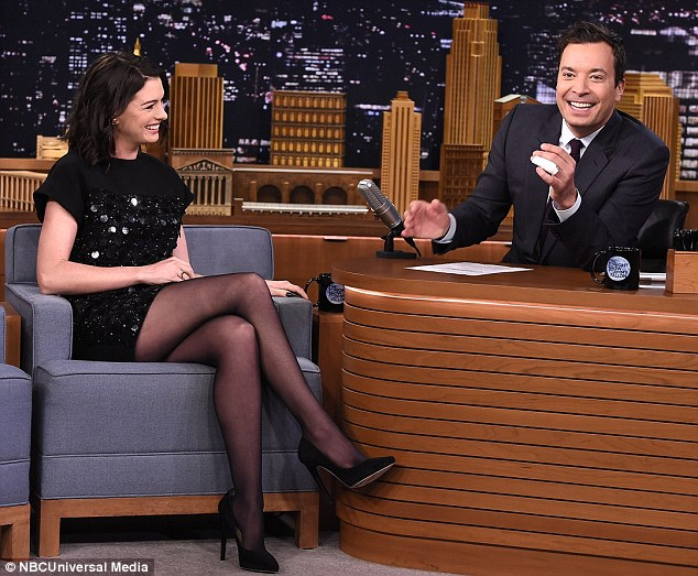 Good times: Jimmy and Anne enjoyed a laugh during their interview