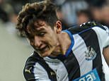 NEWCASTLE, ENGLAND - SEPTEMBER 23:  Florian Thauvin (R) of Newcastle strikes the ball during The Capital One Cup third round match between Newcastle United and Sheffield Wednesday at St.James Park on September 23, 2015, in Newcastle upon Tyne, England. (Photo by Serena Taylor/Newcastle United via Getty Images)