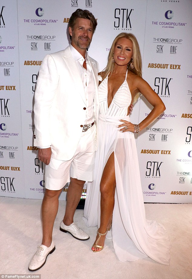 Still going: The 36-year-old reality star (pictured last week) said they cancelled their wedding in May as they realised it was a holiday weekend, not they just need a new date
