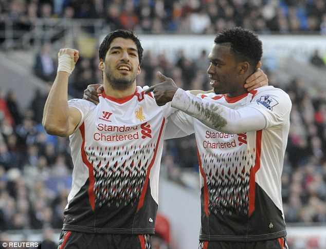 There was always a needling rivalry between Suarez and Daniel Sturridge but they performed well together