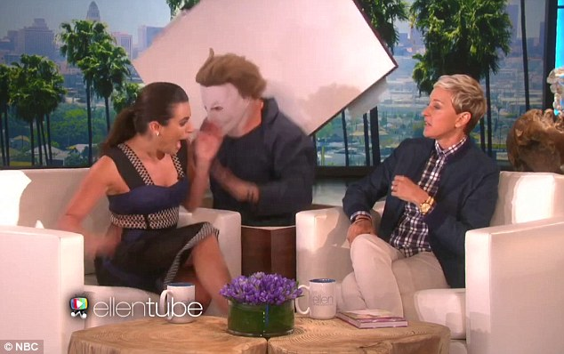 Screaming good time: The actress was all aflutter while Ellen remained relatively calm