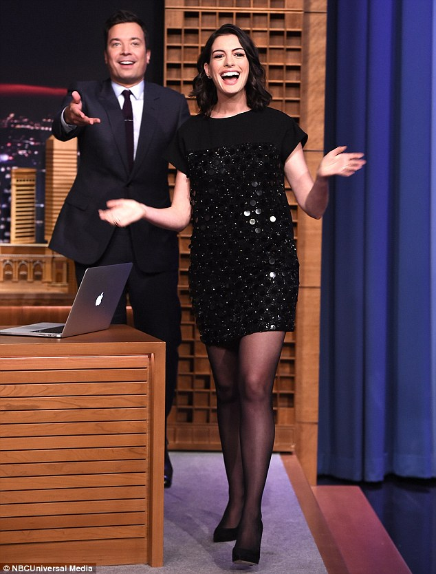 Fan favourite: Jimmy Fallon introduced Anne to the studio audience