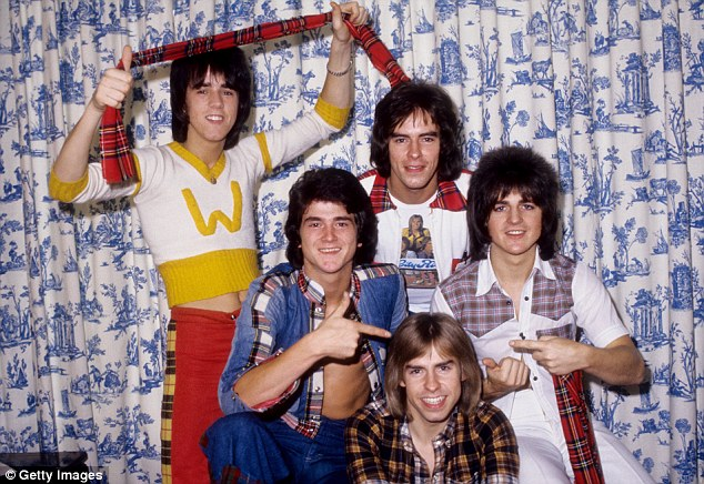 Classic: Here is the original band lineup in 1975. Wood is left, next to Mckeown, Alan Longmuir (top centre), guitarist Eric Faulkner (right) and drummer Derek Longmuir (bottom cenre). Faulker may return to the tour too, but Derek Longmuir, Alan's brother, has ruled it out