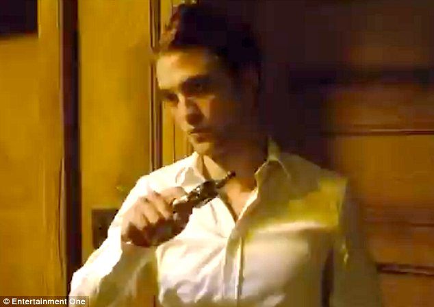 Bad boy: The character of Parker is a world away from the peaceful persona of Edward Cullen
