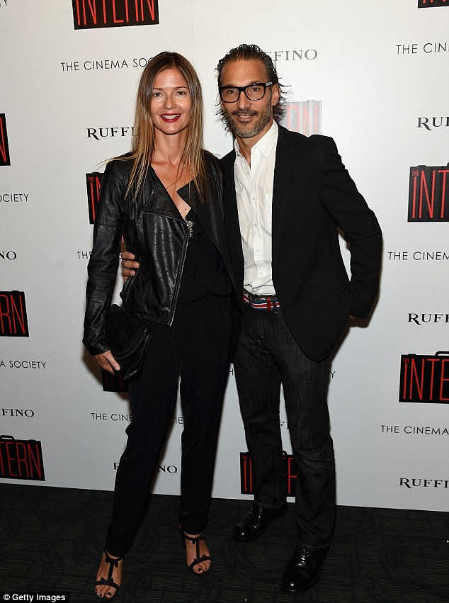 Two cute they are: Jill Hennessy and Paolo Mastropietro were arm in arm