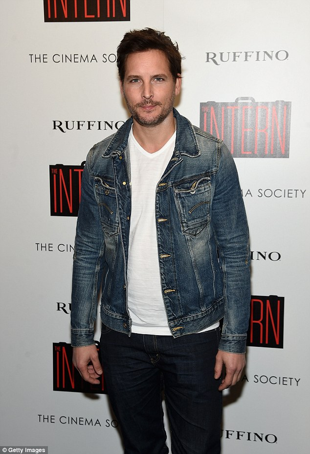 He does denim good: Peter Facinelli wore jeans for the event as well as a white shirt