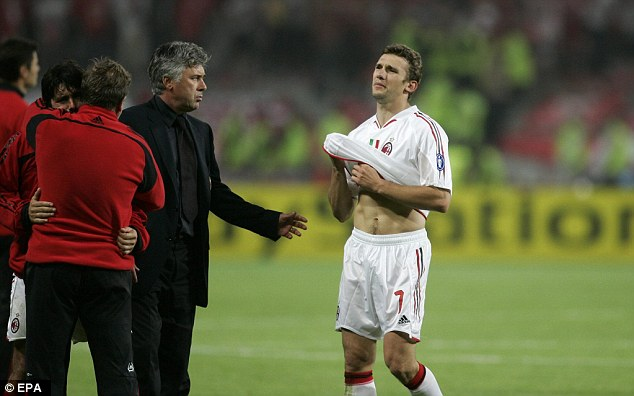 Ancelotti did however see Milan throw away a three-goal lead against Liverpool in the 2005 final