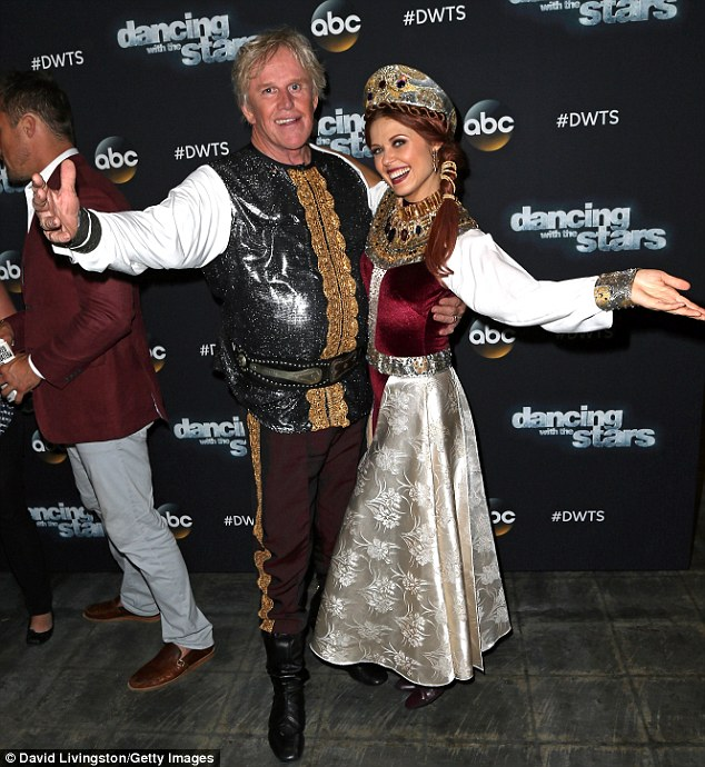 Before their paso doble:Also in the bottom two with Espinoza was kooky Oscar nominee Gary Busey and his partner Anna Trebunskaya