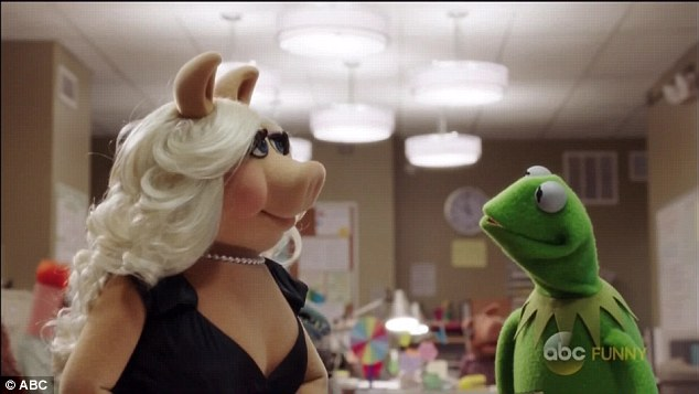 The star: Miss Piggy informed Kermit that there was now way she was having actress Elizabeth Banks as the first guest on her show