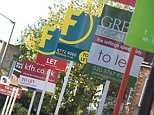 A selection of estate agents letting and for sale signs