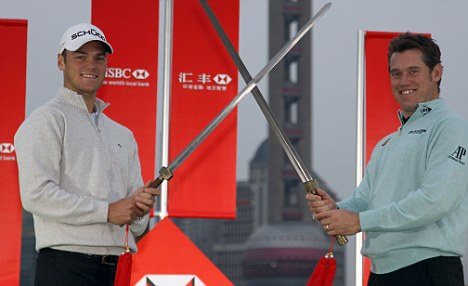 Ready for battle: Martin Kaymer and Lee Westwood are vying for the world No 1 spot