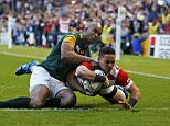Rugby Union - South Africa v Japan - IRB Rugby World Cup 2015 Pool B - Brighton Community Stadium, Brighton, England - 19/9/15Japan's Karne Hesketh scores their third tryReuters / Eddie KeoghLivepic      TPX IMAGES OF THE DAY           TPX IMAGES OF THE DAY
