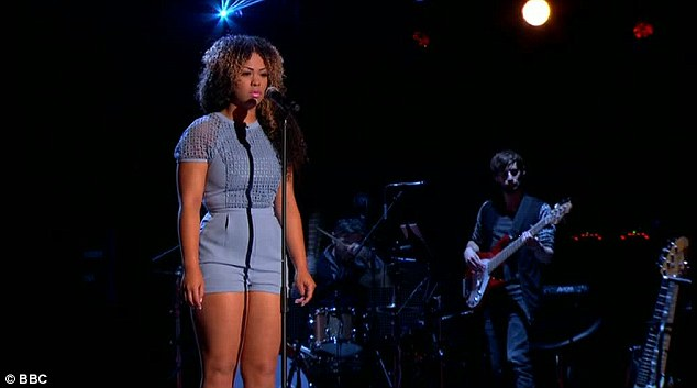 Impressive: The teenage singer got the coaches talking following her performance