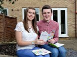 Pictures by Howard Walker. 07970-809718...FAO  Ben Green. Picture Desk...17th July 2015...Picture shows Sarah Drewery and Ryan Fletcher who are first time buyers outside their new home in Newark...See words by Neil Simpson.