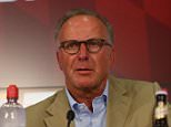 MUNICH, GERMANY - JULY 11:  Karl-Heinz Rummenigge, CEO of Bayern Muenchen talks to the media during a press conference head of the FC Bayern Muenchen season opening and team presentation at Allianz Arena on July 11, 2015 in Munich, Germany.  (Photo by Alexander Hassenstein/Bongarts/Getty Images)