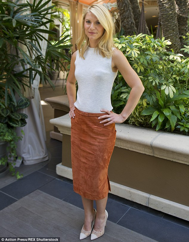Powerful: Claire Danes was on fine form as she stepped out for the Homeland photocall at the Four Seasons Hotel in Los Angeles on Tuesday