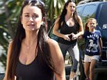 142875, EXCLUSIVE: Kyle Richards visits Ali Landry at home in Hollywood, whose brother-in-law and father-in-law were found dead in Mexico. Los Angeles, California - September 24, 2015. Photograph: � PacificCoastNews. Los Angeles Office: +1 310.822.0419 sales@pacificcoastnews.com FEE MUST BE AGREED PRIOR TO USAGE