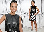 "NEW YORK, NY - SEPTEMBER 25:  Kerry Washington visits AOL Build Presents to discuss the new season of ""Scandal"" and her work with Allstate?s Foundation ""Purple Purse' at AOL Studios In New York on September 25, 2015 in New York City.  (Photo by Steve Mack/FilmMagic)"