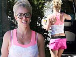 Calabasas, CA - Britney Spears makes a few stops after a mid day workout session in Calabasas. The pop princess was in a great mood as she stopped by The Decore Store for a look and Best Donuts for a snack to-go in pink running shorts, with a pink and white tank and matching sneakers..\nAKM-GSI   September 24, 2015\nTo License These Photos, Please Contact :\nSteve Ginsburg\n(310) 505-8447\n(323) 423-9397\nsteve@akmgsi.com\nsales@akmgsi.com\nor\nMaria Buda\n(917) 242-1505\nmbuda@akmgsi.com\nginsburgspalyinc@gmail.com