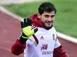 (FILES) A file picture taken on March 25, 2015 shows Spain's goalkeeper Iker Casillas waving to supporters during a training session at the Sport City training ground in Las Rozas, near Madrid, ahead of the EURO 2016 qualifiers football match against Ukraine. Real Madrid have reached agreement with Portuguese side FC Porto for the transfer of goalkeeper and captain Iker Casillas, the Spanish club announced on July 11, 2015.   AFP PHOTO/ JAVIER SORIANOJAVIER SORIANO/AFP/Getty Images