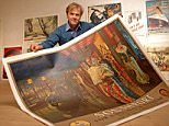 PATRICK BOGUE FROM STOURPAINE, DORSET WHO IS A HISTORICAL POSTER SPECIALIST WORKING FROM HOME.PICTURED WITH A MANTIANI POSTER.©RUSSELL SACH - 0771 882 6138