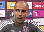 """Pep Guardiola walks out of press conference - He was asked: """"The next England manager? Pep: """"Come on! Next question please. No, I'm coach of FC Bayern Munich"""""""