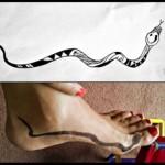 tatouage serpent polynésien cheville