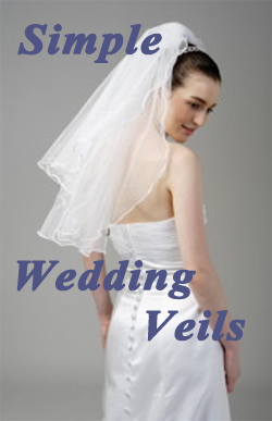 Simple, unadorned wedding veils starting at less than $ 10.