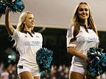 Jacksonville Jaguars cheerleaders were the special guests at Craven Cottage, performing at half-time