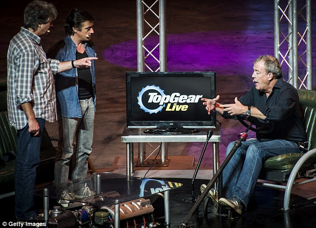 Jeremy Clarkson has agreed to keep quiet about his sacking from the BBC so the Top Gear Live shows (pictured) can go ahead 'in good spirit'