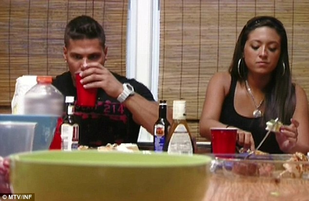 Tension mounting: Ronnie and Sammi couldn't stop fighting on last night's episode